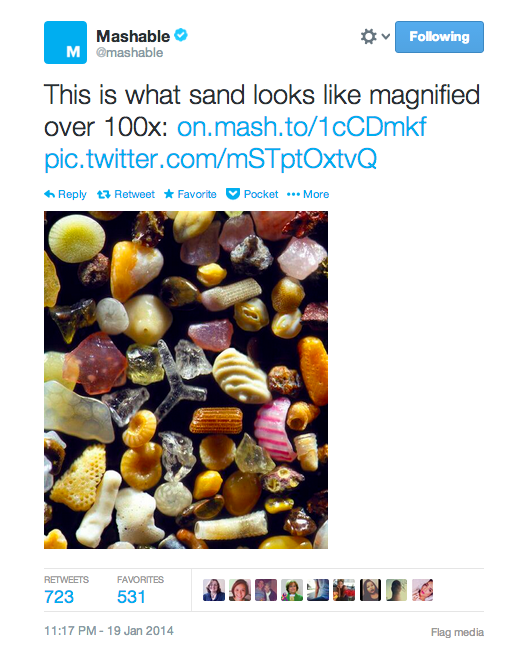 Tweet from Mashable