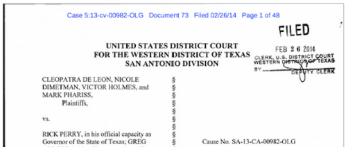 Texas Court Ruling