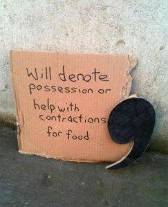 apostrophe.panhandling sign