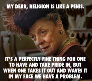 religion is like a penis