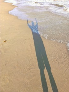 shadow selfie carbon beach